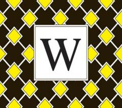 Black and Yellow Squares Foldover Cards